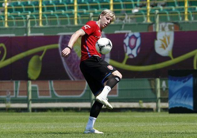František Rajtoral na tréninku fotbalové reprezentace v polské Vratislavi
