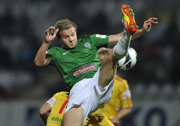 Jablonecký Jan Kopic v zápase proti Dukle Praha.