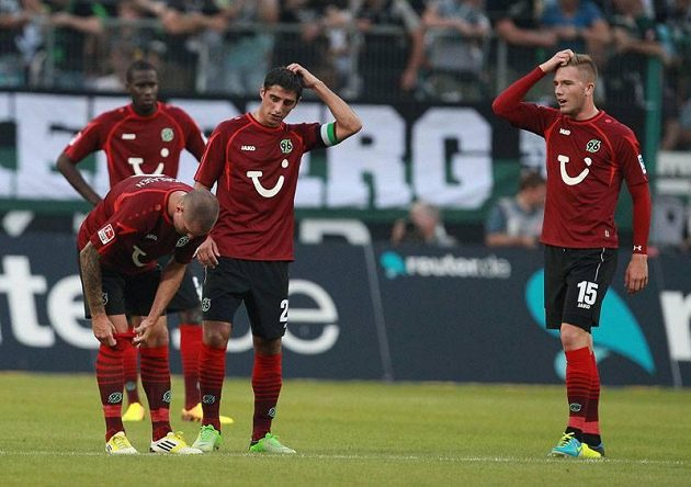 Fotbalisté Hannoveru.
