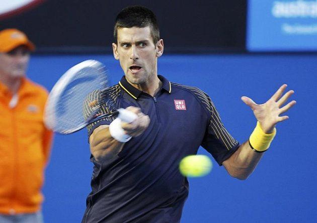 Novak Djokovič ve finále Australian Open.