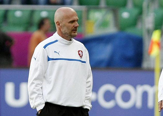 Michal Bílek na tréninku fotbalové reprezentace