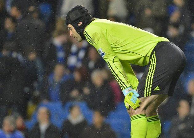Zklamaný brankář Chelsea Petr Čech.
