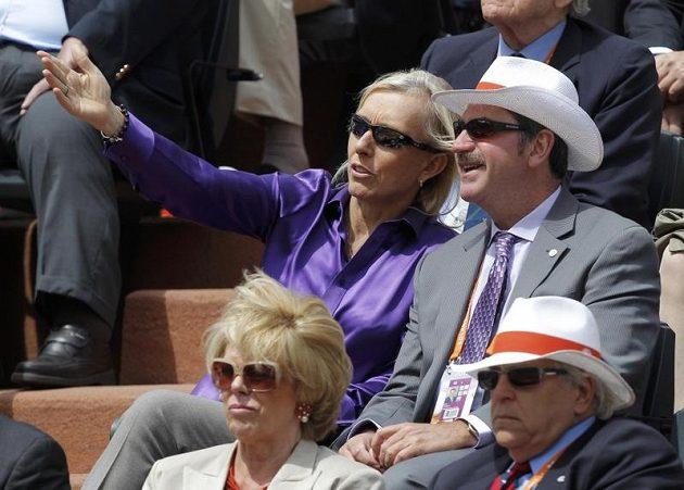 Finálový duel na Roland Garros si nenechala ujít ani Martina Navrátilová