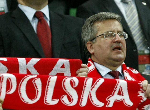 Polský prezident Bronisław Komorowski si zápas s Českem nenechal ujít.