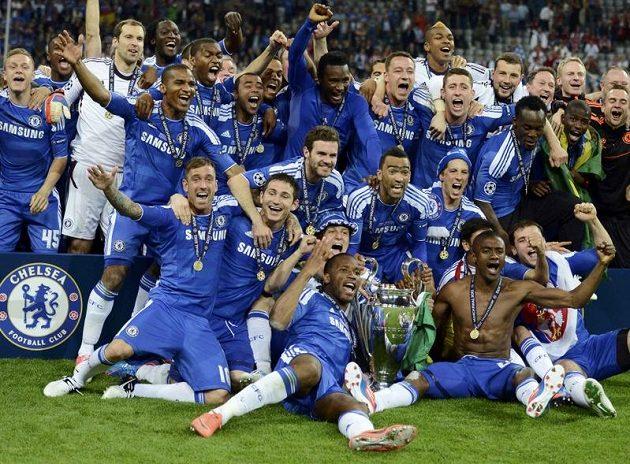 Fotbalisté Chelsea slaví triumf v Lize mistrů.