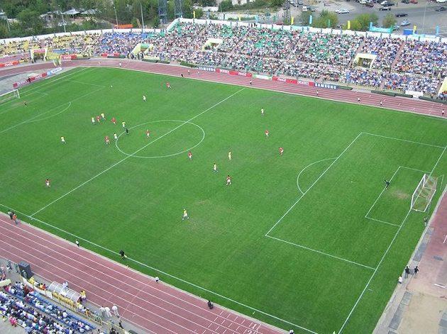 Štadion Šachťoru, na kterém si zahrají předkolo Ligy mistrů fotbalisté Liberce.