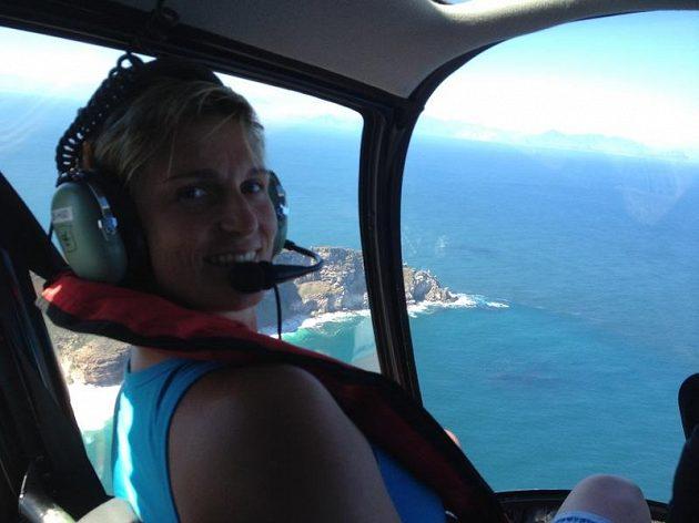 Kapské Město si Barbora Špotáková prohlédla i z letadla.