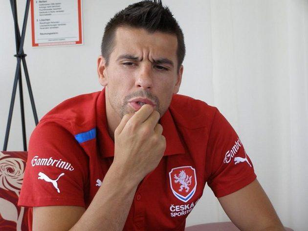 Milan Baroš na soustředění v Bad Waltersdorfu.