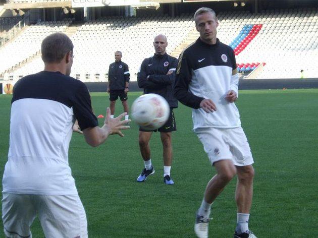 Jiří Jarošík na tréninku v Lyonu.