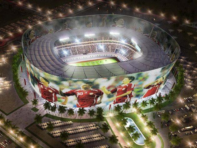 Architektonické skvosty, nejmodernější technologie, komfort, takové budou stadiony pro MS 2022. Na snímku vizualizace All Raján Stadium.