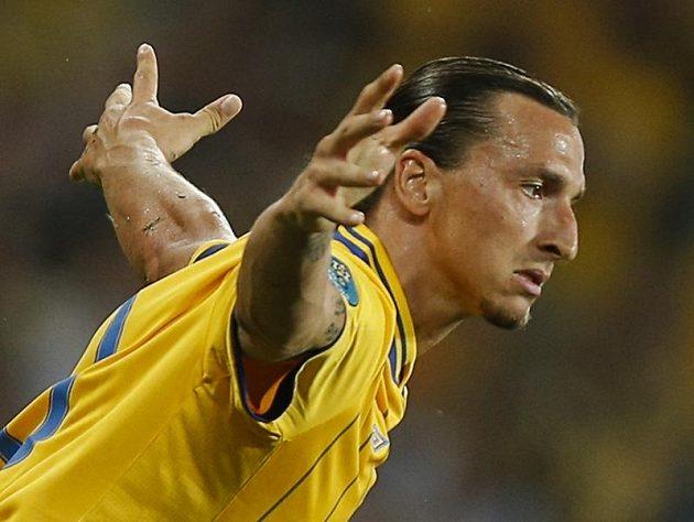 Švédský snajpr Zlatan Ibrahimovic se proti Francii trefil parádně, na postup to nakonec Švédům nestačilo.