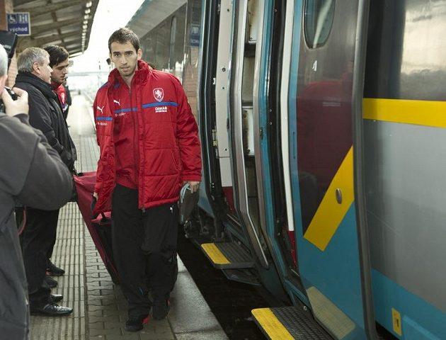 Příjezd fotbalové reprezentace do Olomouce.