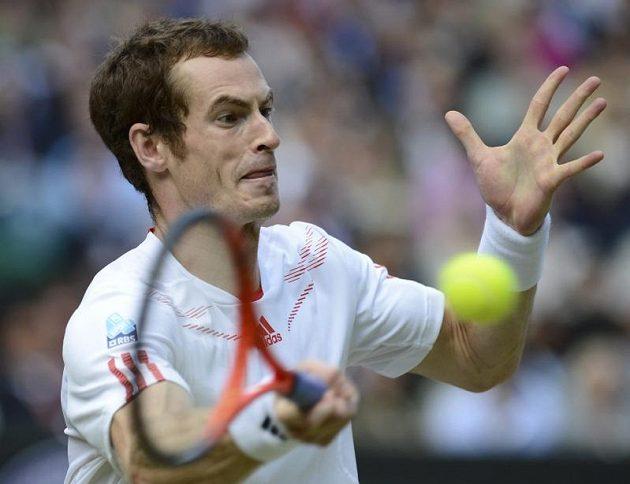 Andy Murray v semifinálové bitvě Wimbledonu