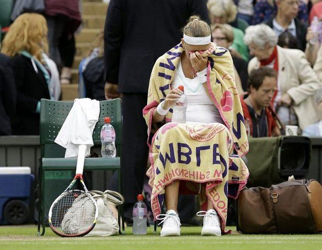 Petra Kvitová ve čtvrtfinále Wimbledonu