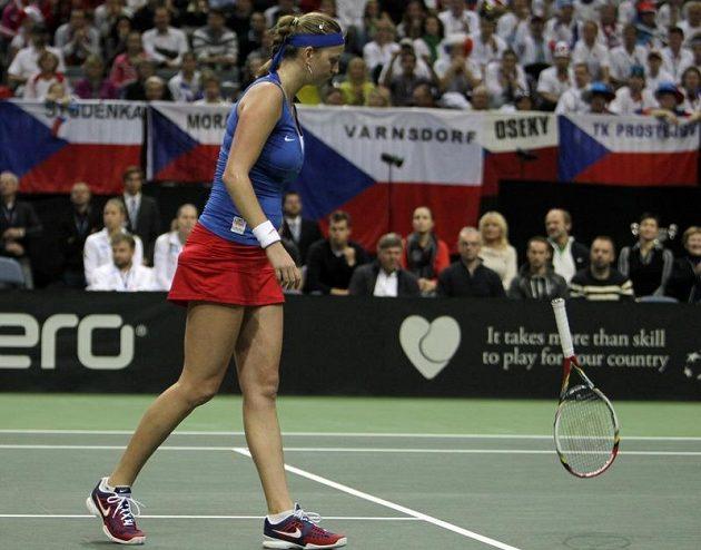 Petra Kvitová na Anu Ivanovičovou v neděli neměla.