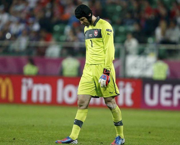 Zklamaný Petr Čech po utkání
