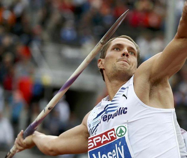 Vítězslav Veselý při finálovém závodu oštěpařů na ME v Helsinkách