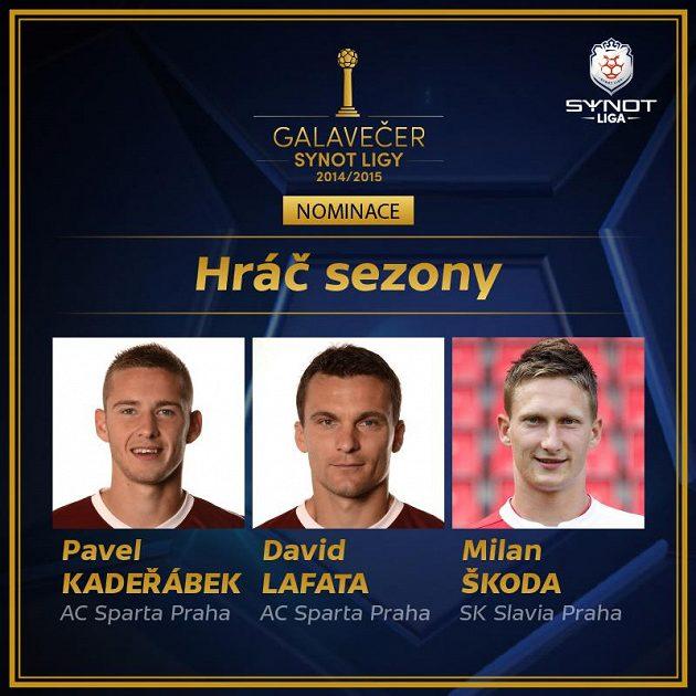 Nominace na hráče sezóny.