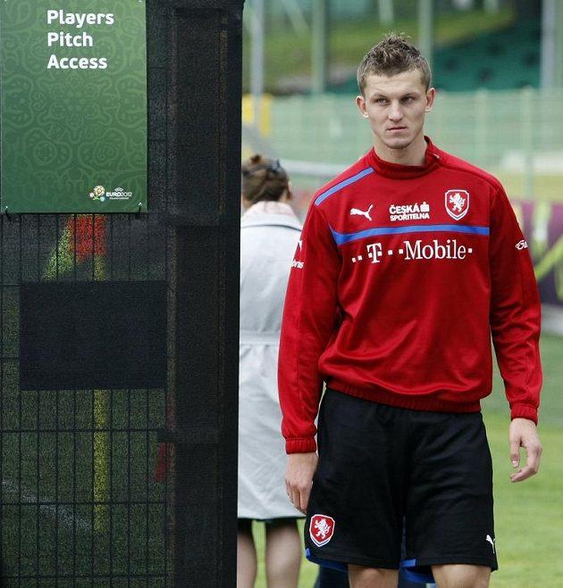 Tomáš Necid po tréninku fotbalové reprezentace v polské Vratislavi
