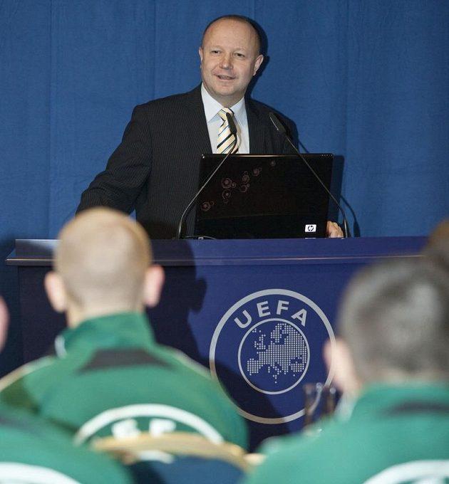 Petr Fousek na jedné z akcí UEFA.