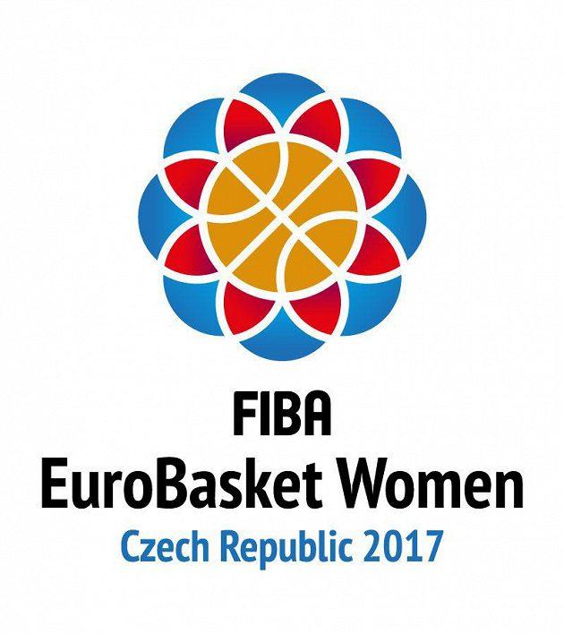 Logo k mistrovství Evropy basketbalistek 2017 v ČR.