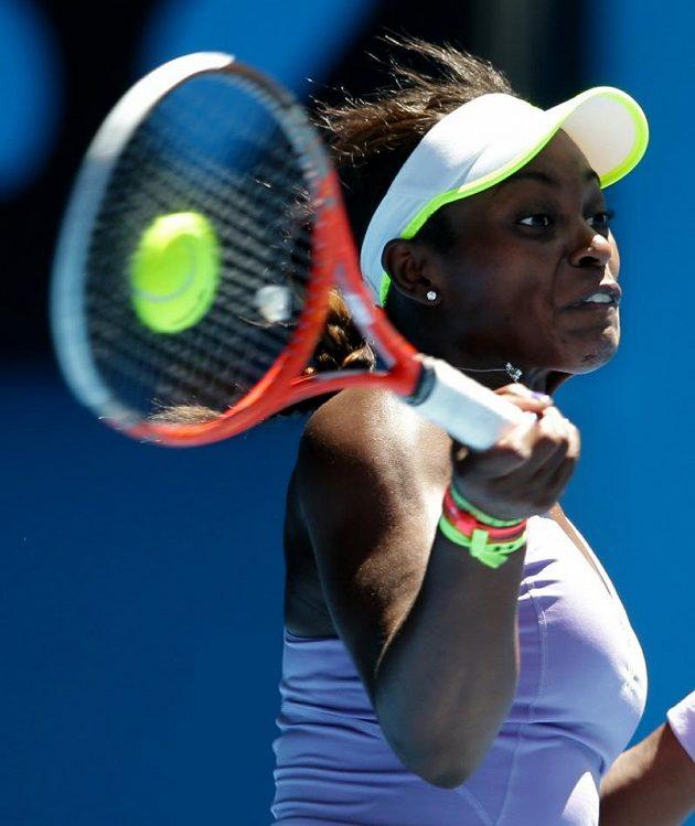 Sloane Stephensová se proti Viktorii Azarenkové snažila, z postupu do finále se ale neradovala.