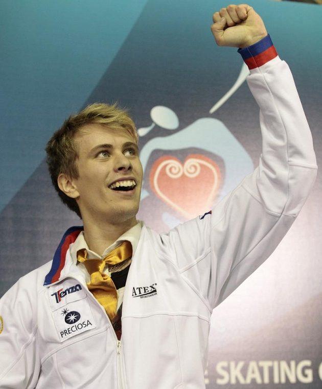 Michal Březina se raduje, ze Záhřebu si přiveze medaili