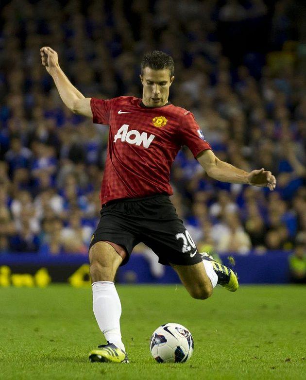 Robin Van Persie v dresu Manchesteru United svému novému týmu k výhře na hřišti Evertonu nepomohl.
