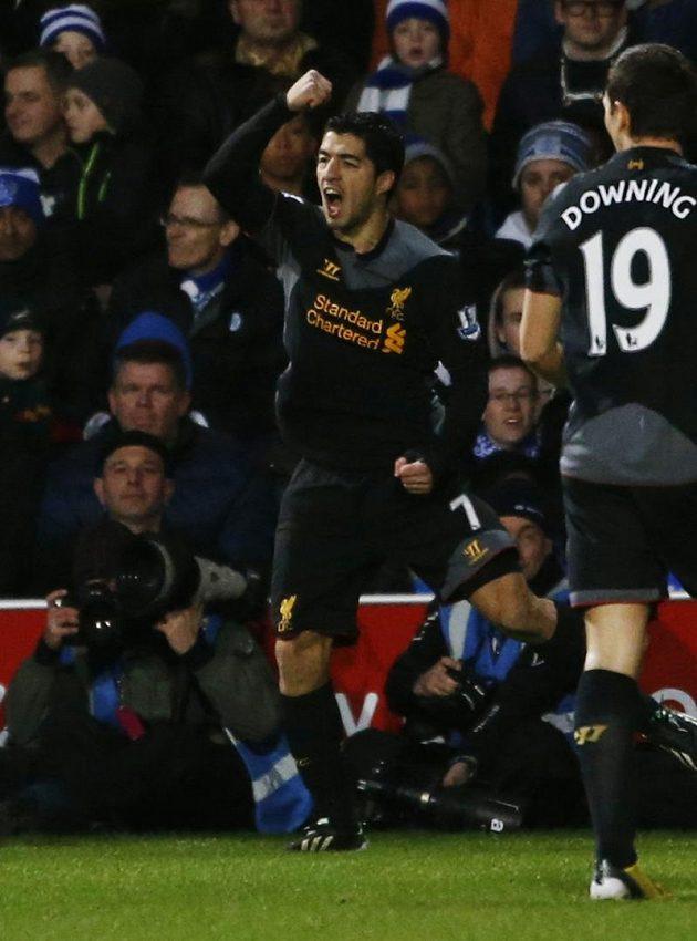 Útočník Liverpoolu Luis Suárez je k nezastavení.