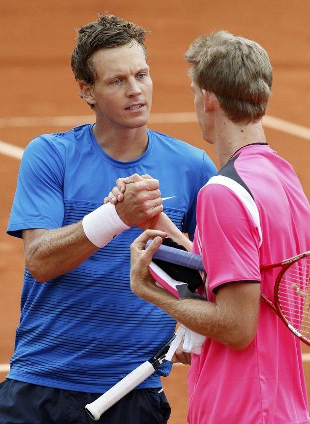 Tomáš Berdych dokázal porazit Jihoafričana Kevina Andersona i ve třetím vzájemném souboji, na Roland Garros se ale při tom nejvíce nadřel