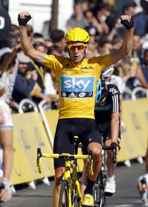 Vítěz 99. ročníku Tour de France Bradley Wiggins