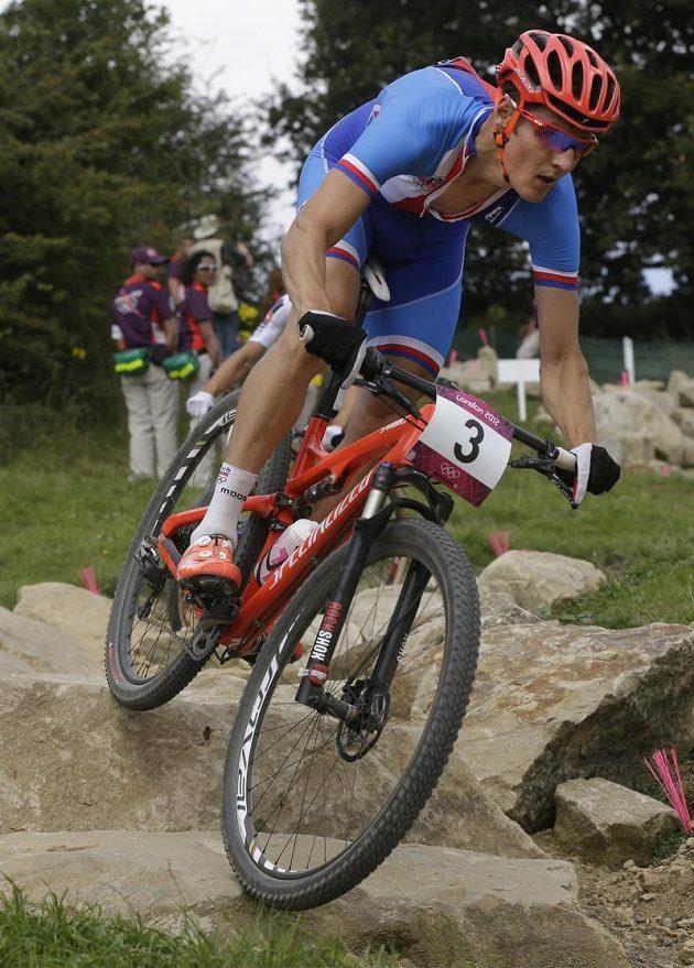 Jaroslav Kulhavý během olympijského závodu