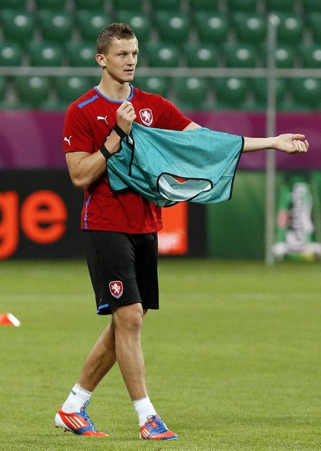Tomáš Necid na tréninku reprezentace