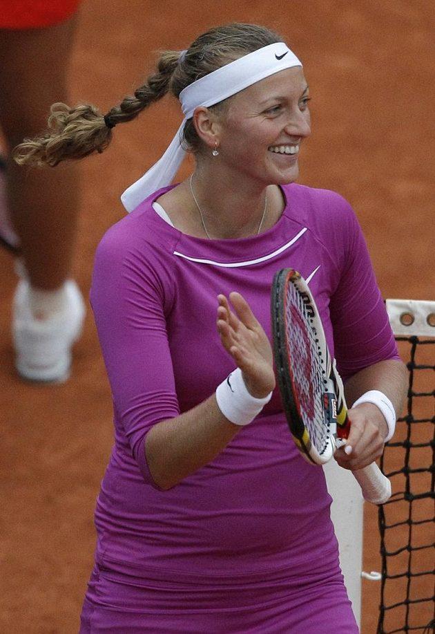 Radost Petry Kvitové, na Roland Garros poprvé v kariéře postoupila do čtvrtfinále