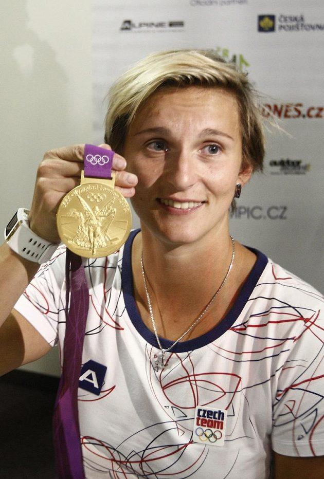 Oštěpařka Barbora Špotáková s olympijským zlatem z Londýna.
