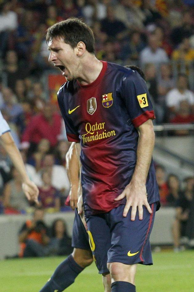 Zklamaný Lionel Messi po jedné z neproměněných šancí.
