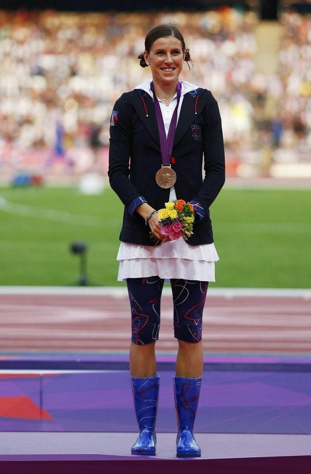 Zuzana Hejnová si pro bronzovou medaili přišla v holínkách.