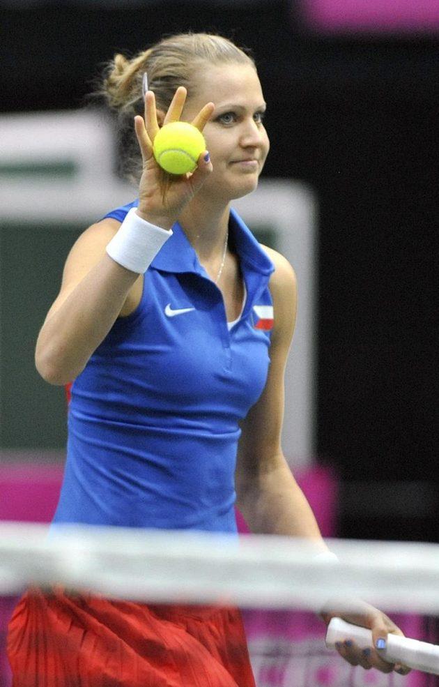 Lucie Šafářová vyhrála nad Italkou první set.