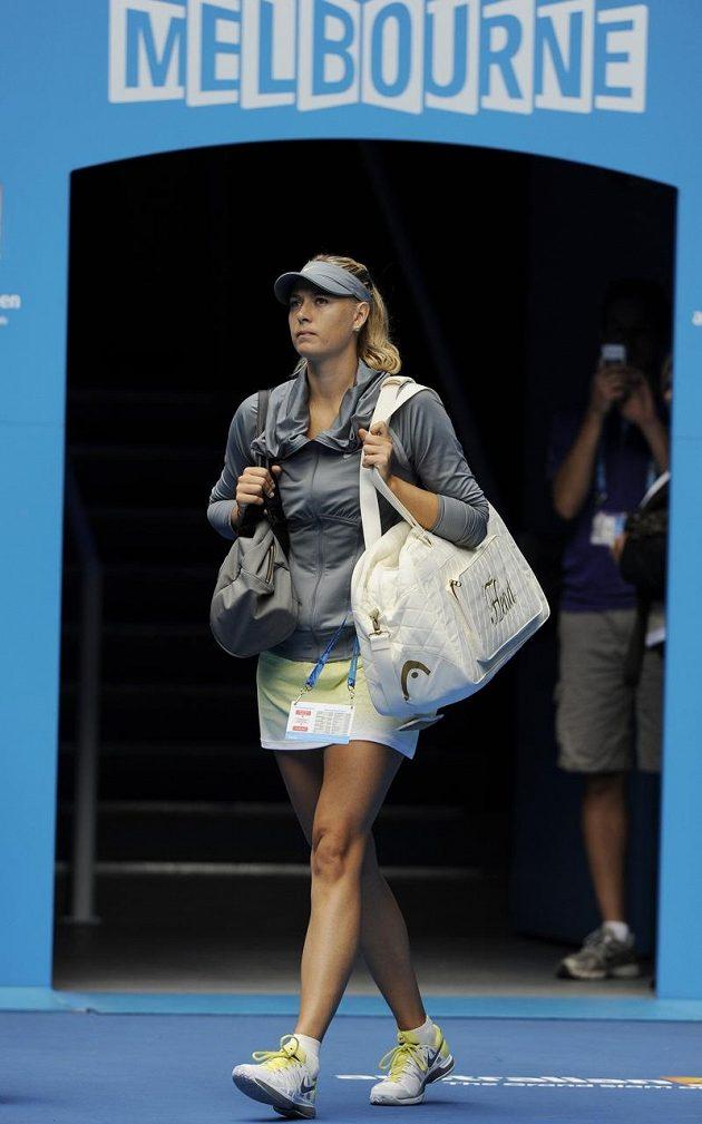 I elegantní Maria Šarapovová si v Melbourne dělala velké naděje na titul. Nemilosrdně kosila jednu soupeřku za druhou, ale i ona nečekaně narazila.