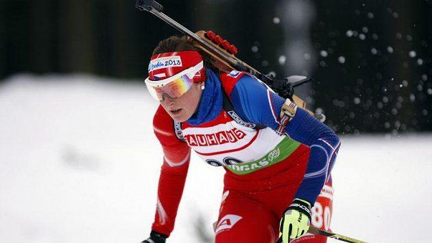 Česká biatlonistka Lea Johanidesová