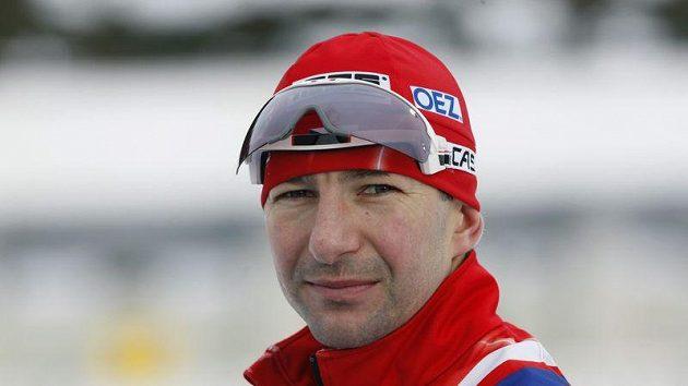 Český biatlonista Tomáš Holubec