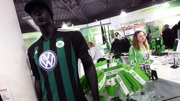 Prodejna klubových suvenýrů ve Wolfsburgu