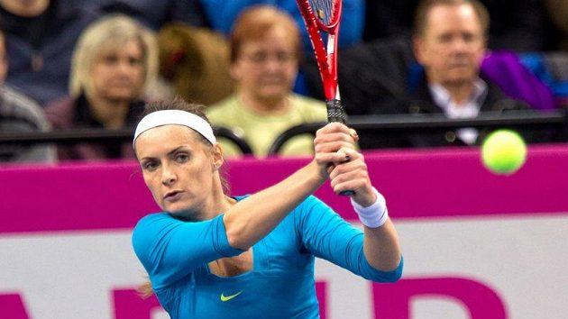 Iveta Benešová při dvouhře s Němkou Sabine Lisickou.