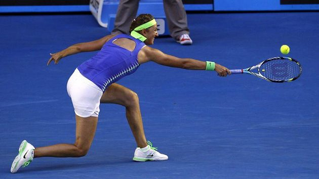 Viktoria Azarenková během finále Australian Open.
