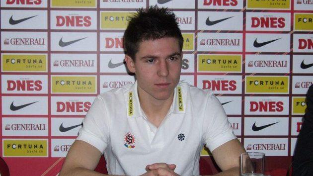 Tomáš Přikryl po svém přestupu z Olomouce do Sparty.