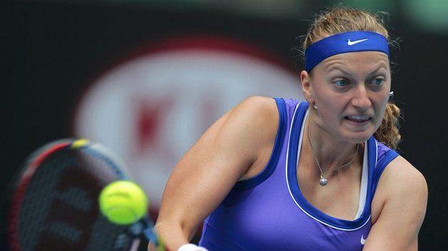 Petra Kvitová při čtvrtfinálovém utkání s Italkou Sarou Erraniovou.