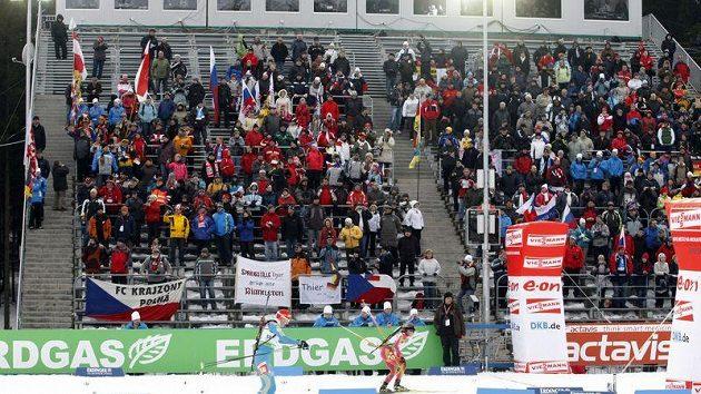 Biatlonoví fanoušci v Novém Městě na Moravě