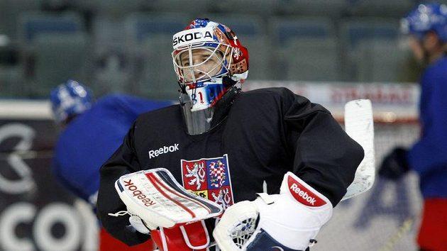 Jakub Štěpánek na tréninku národního týmu