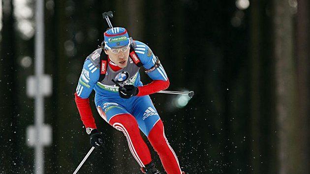 Ruský biatlonista Andrej Makovějev