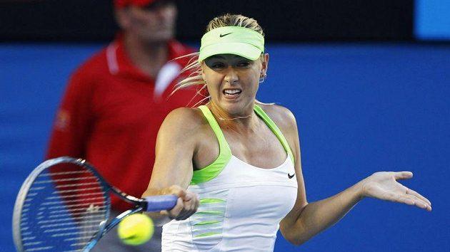 Maria Šarapovová během finále Australian Open.